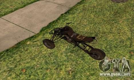 Trike from Ravaged para GTA San Andreas vista posterior izquierda