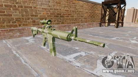 Automático carabina MA de la Guardia de Camuflaj para GTA 4