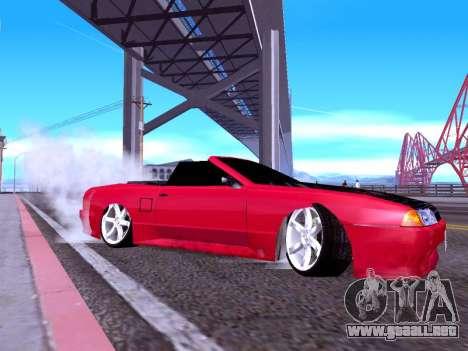 Elegy Cabrio HD para GTA San Andreas vista posterior izquierda