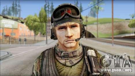 Nima GROM from Soldier Front 2 para GTA San Andreas tercera pantalla