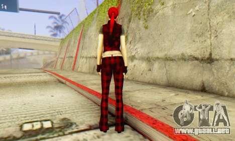 Red Girl Skin para GTA San Andreas tercera pantalla