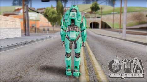 Masterchief Blue-Green from Halo para GTA San Andreas tercera pantalla