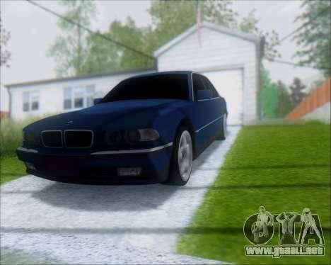 BMW 7 E38 para la visión correcta GTA San Andreas