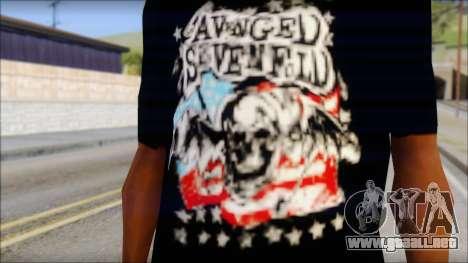 A7X Stars And Stripes T-Shirt para GTA San Andreas tercera pantalla