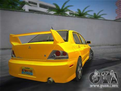 Mitsubishi Lancer Evolution 8 2004 para GTA Vice City left