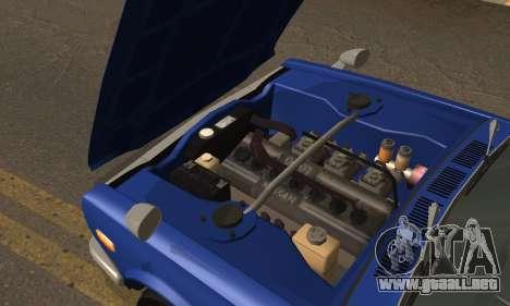Nissan Skyline GC10 2000GT para visión interna GTA San Andreas