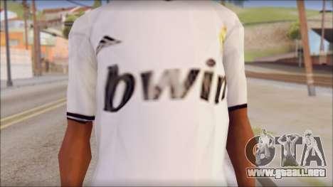 Real Madrid FC Jersey Mod para GTA San Andreas tercera pantalla