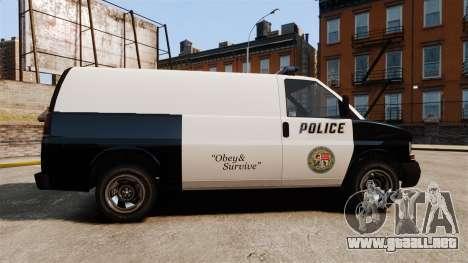 Vapid Speedo Los Santos Police [ELS] para GTA 4 left