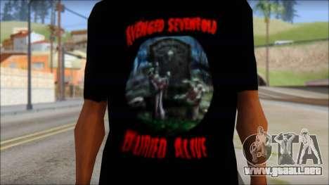 A7X Buried Alive Fan T-Shirt v1 para GTA San Andreas tercera pantalla