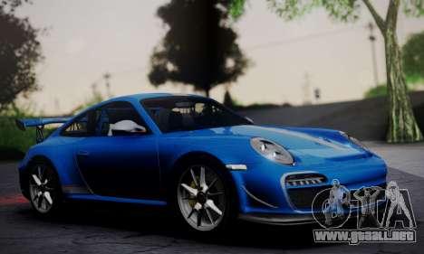 Porsche 911 GT3 RS4.0 2011 para GTA San Andreas vista posterior izquierda