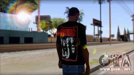 Kreator Shirt para GTA San Andreas segunda pantalla