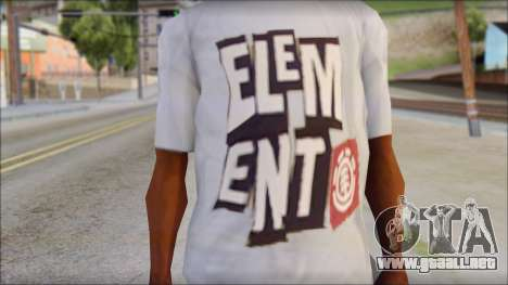 Element T-Shirt para GTA San Andreas tercera pantalla