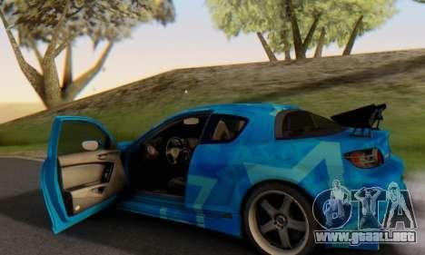 Mazda RX-8 VeilSide Blue Star para vista inferior GTA San Andreas