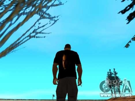Camiseta De Paul Walker para GTA San Andreas tercera pantalla
