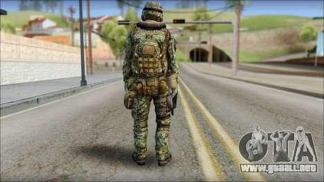 Forest UDT-SEAL ROK MC from Soldier Front 2 para GTA San Andreas segunda pantalla