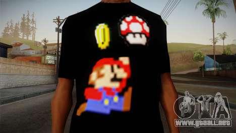 Mario Bros T-Shirt para GTA San Andreas tercera pantalla