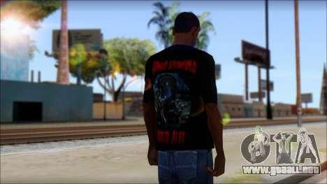 A7X Buried Alive Fan T-Shirt v1 para GTA San Andreas segunda pantalla