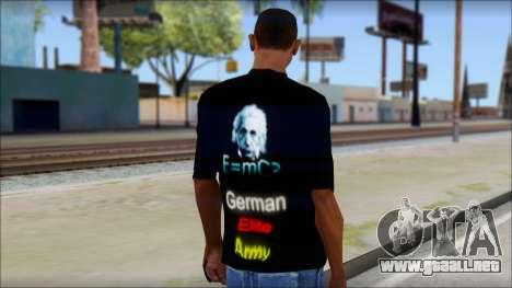 German Elite Army Emcore Fan T-Shirt para GTA San Andreas segunda pantalla