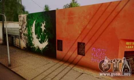 Pakistani Flag Graffiti Wall para GTA San Andreas segunda pantalla