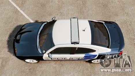 Dodge Charger SRT8 2010 [ELS] para GTA 4 visión correcta