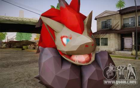 Zoroark from Pokemon para GTA San Andreas tercera pantalla
