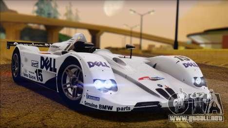 BMW 14 LMR 1999 para GTA San Andreas vista posterior izquierda