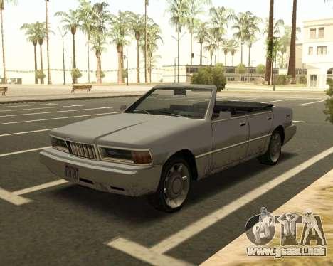 Centinela Convertible para GTA San Andreas