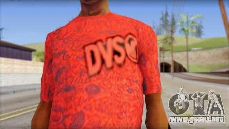 DVS T-Shirt para GTA San Andreas tercera pantalla
