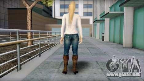 Sarah from Dead or Alive 5 v1 para GTA San Andreas segunda pantalla