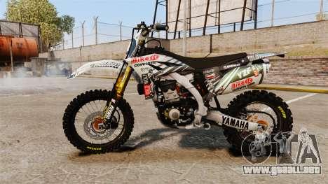 Yamaha YZF-450 v1.5 para GTA 4 left