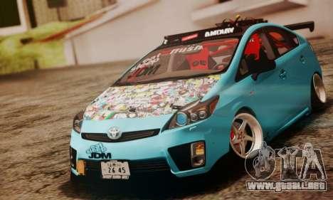 Toyota Prius Hybrid 2011 Helaflush para la visión correcta GTA San Andreas