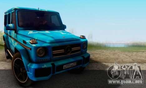 Mercedes-Benz G65 Blue Star para GTA San Andreas left