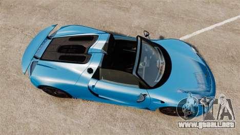 Porsche 918 2013 para GTA 4 visión correcta