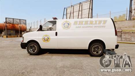 Vapid Speedo Los Santos County Sheriff [ELS] para GTA 4 left