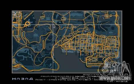 Mapa de carreras de estilo Traza el Mapa para GTA San Andreas segunda pantalla