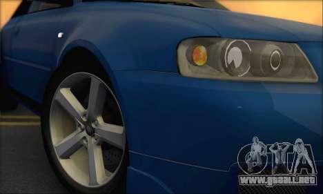 Audi A3 1999 para GTA San Andreas vista posterior izquierda