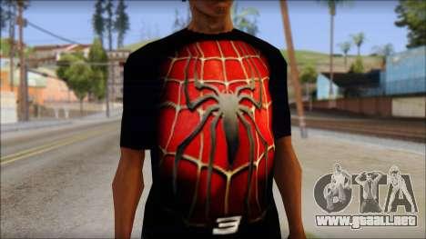 Spiderman 3 T-Shirt para GTA San Andreas tercera pantalla