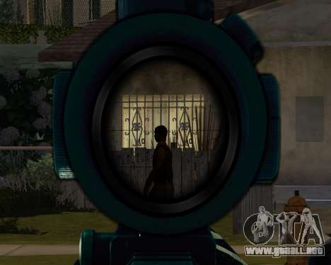 Sniper skope mod para GTA San Andreas tercera pantalla