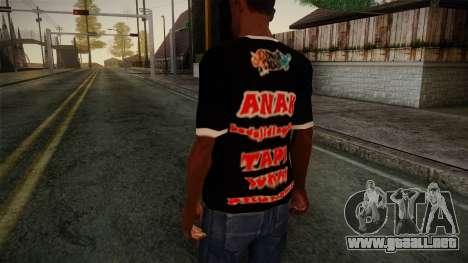 Endank Soekamti T-Shirt para GTA San Andreas segunda pantalla