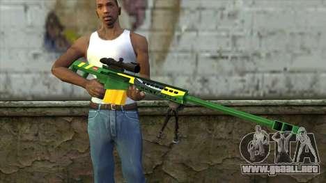 M82A3 Brazil Camo para GTA San Andreas tercera pantalla