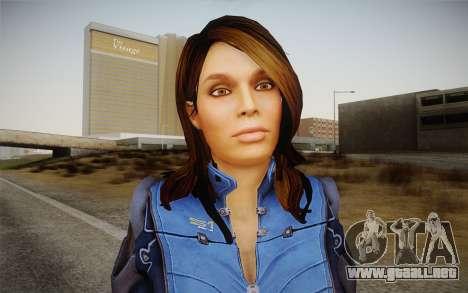 Ashley from Mass Effect 3 para GTA San Andreas tercera pantalla