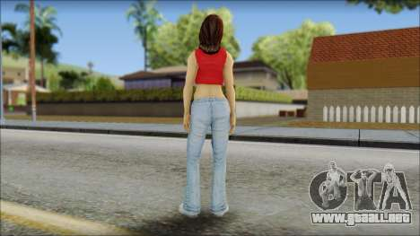 Young Street Girl para GTA San Andreas segunda pantalla