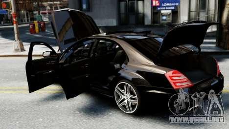 Mercedes-Benz S65 W221 AMG v1.3 para GTA 4 vista interior