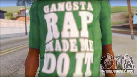 Ice Cube T-Shirt para GTA San Andreas tercera pantalla