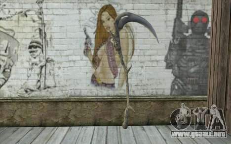 Orisis from DmC: Devil May Cry para GTA San Andreas segunda pantalla