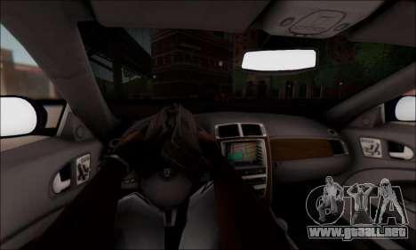 Jaguar XK 2007 para visión interna GTA San Andreas