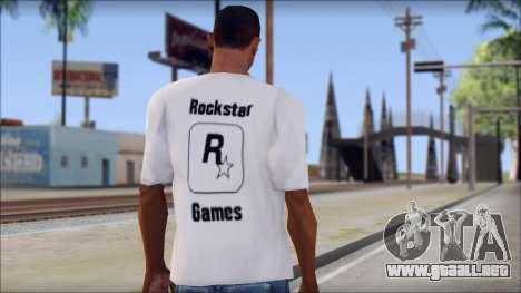 Rockstar Games White T-Shirt para GTA San Andreas segunda pantalla