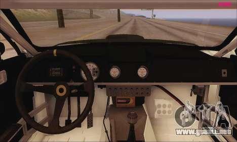 Ford Mustang GTR para GTA San Andreas vista hacia atrás
