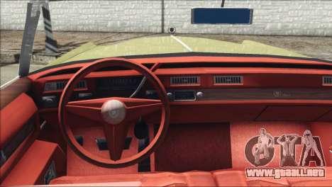 Cadillac Eldorado Stock para GTA San Andreas vista posterior izquierda