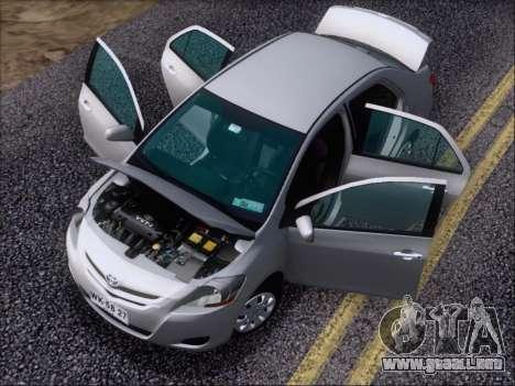 Toyota Yaris 2008 Sedan para la vista superior GTA San Andreas